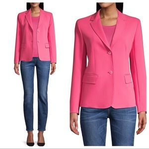 Weekend MaxMara Rete Tailored Blazer Pink Sz 12